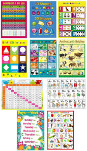Creative Charts For School 10 X Childrens Kids Educational Learning Posters Chart A4 Nursery School Home