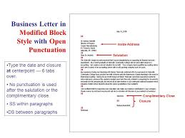 how to open a business letter business letter modified block style with open punctuation