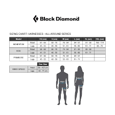 Black Diamond Momentum Harness Size Chart Harness Black Diamond Momentum Dark Gray