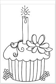 Kleurplaat Cupcake Hímzések Birthday Coloring Pages Happy