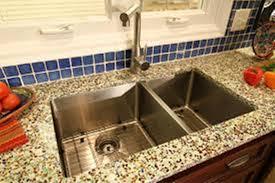 crushed glass countertops bathroom