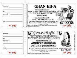 formato boletos rifa talonarios de rifa 1000 numeros otros a vef 450 en preciolandia