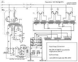 miller cp 250ts converted to single phase 208 Single Phase Wiring Diagram schem after mod jpg 208v single phase wiring diagram