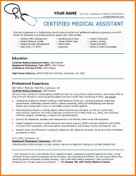 Certified Medical Assistant Resume Certified Medical Assistant Resume Sample Resume For Certified 15