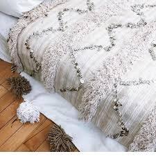 moroccan wedding blanket cream