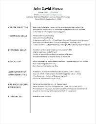 Official Resume Formats Formal Resume Templates Template Doc Srmuniv Co