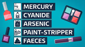 just some of the harmful ings found in fake makeup
