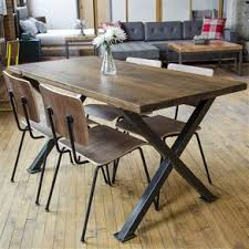industrial modern x frame reclaimed wood dining table by erin true barn wood furniture ideas