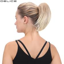 <b>Delice</b> 8inch <b>Women's Short</b> Straight Ponytail Clip In Claw Little ...