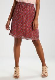 S.oliver a-line skirt - tandoori red women clothing skirts