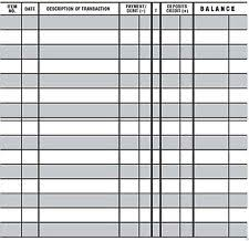 Printable Check Register Book 10 Easy To Read Checkbook Transaction Register Large Print Check