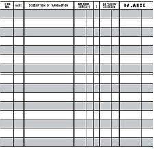 Printable Check Register For Checkbook 10 Easy To Read Checkbook Transaction Register Large Print Check