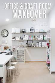 office craft room ideas. Go Take A Look At How Heidi Swapp, Scrapbooker And Scrapbook Product Designer Extraordinaire, Made Over Her Scrap Room Into Dream Space With Enough Table Office Craft Ideas C