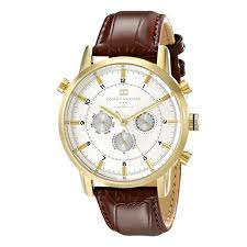tommy hilfiger men s gold tone watch brown leather band tommy hilfiger mens gold tone watch brown leather band 1790874