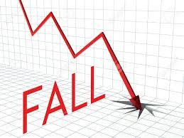 Down Arrow Chart Fall Chart Concept Crisis And Down Arrow
