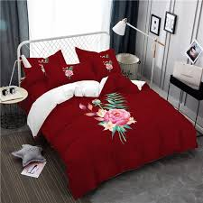 embroidered and painted series pattern leaf design fresh comfortable high grade bedding copper twin