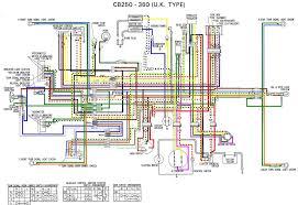 honda cb250 cb360 cb 250 360 electrical wiring harness diagram schematic