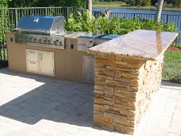 Kitchen Stone Floor L Shaped Covered Outdoor Kitchen Stainless Steel Outdoor Bbq