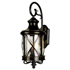 Shop Allen Roth 20 1 2 In Bronze Outdoor Wall Mounted Light At