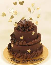 2 Tier Chocolate With Stars Kidds Cakes Bakery