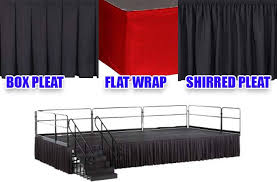free ground on any stage skirting or custom skirt order over 500
