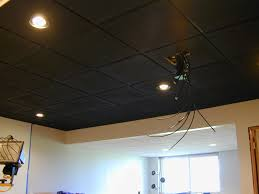 Black Ceilings elegant spray paint basement ceiling black ideas basements 2451 by uwakikaiketsu.us