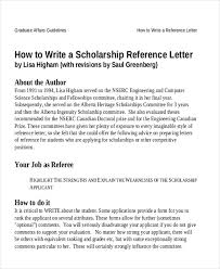 Recommendation Letter For Student Scholarship Sample Reference Letter For Student Examples In Pdf Word