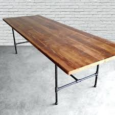 diy conference table reclaimed wood table with thick top conference or dining table with steel pipe