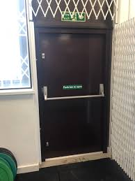 commercial security doors.  Security Our RSG8100 Fire Exit Security Door Fitted To A Commercial Unit In Mitcham With Commercial Doors R