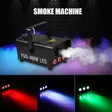 Visual Effect Lighting Us 48 29 35 Off Led Stage Lighting Effect 400w Wireless Control Smoke Machine Rgb Led Fog Light Fogger Party Stage Perform Smoking Ejector Light In