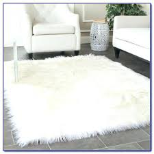large faux fur rugs white fur rug pleasing faux large