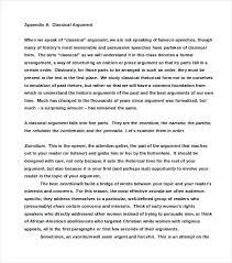 Debate Essay Example Classical Argumentative Essay Example How To Write An Argument Essay