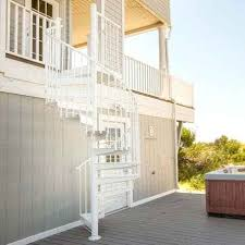 spiral staircase outdoor aluminum custom series stair for calgary