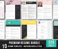 the best cv resume templates examples design shack premium resume bundle matching cover letters