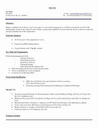 Format Of Resume For Fresher Engineers Pdf Beautiful Electrical