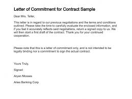 Letter Of Agreement Samples Template Best Letter Of Commitment