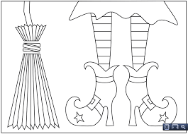 Small Picture 9 fun free printable Halloween coloring pages Witch shoes
