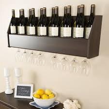 Prepac Furniture 18-Bottle Espresso Wall-Mount Wine Rack