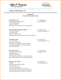 Resume Templates Reference Letter Format Doc Sample Page Template