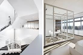 Modern office architecture Contemporary Modern Commercial Office White Black Stair Glass Partitions Res4 Resolution Architecture Res4 Resolution Architecture Rms California Modern Office