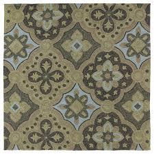 kaleen habitat mocha square indoor outdoor handcrafted nature area rug common 8 x