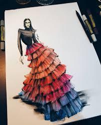 Pinterest Fashion Design Sketches Pinterest Himanidave Fashion Illustration Dresses