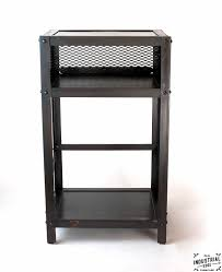 industrial furniture table. Industrial End Table / Steel Furniture