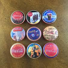 1.5 inch Coca Cola cabinet knobs drawer pulls red white vintage by  HolyChicBoutiqueCo on Etsy