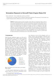 Rotax 912 Fuel Consumption Chart Pdf Simulation Research Of Aircraft Piston Engine Rotax 912
