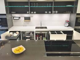 Ex Display Designer Kitchens For Sale Delectable Large Hacker Systemat Handleless Ex Display Kitchen Quartz Worktops