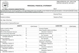 Generic Personal Financial Statement Template – Feliperodrigues