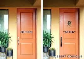 modern front door orange. Modern Entry Door Front Orange