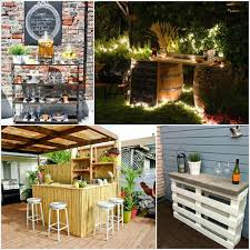 bar homemade outdoor ideas cheap diy creative and low budget patio i32