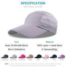 Hats With Lights In Visor Golf Clothing Folding Baseball Cap Summer Meshrunning
